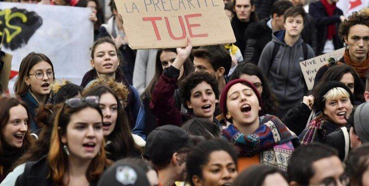 اعتراض دانشجویان فرانسوی به بودجه ندادن دولت به دانشگاه ها