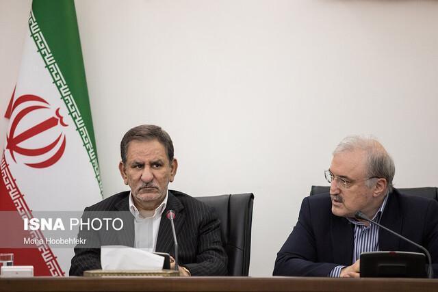 تماس تلفنی جهانگیری با استاندار البرز در مورد آخرین شرایط کرونا در استان